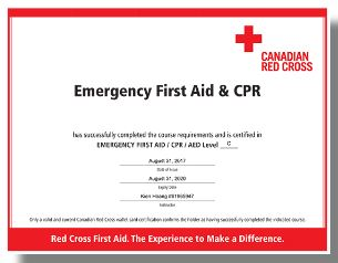 emergency First Aid & CPR Course-Red Cross